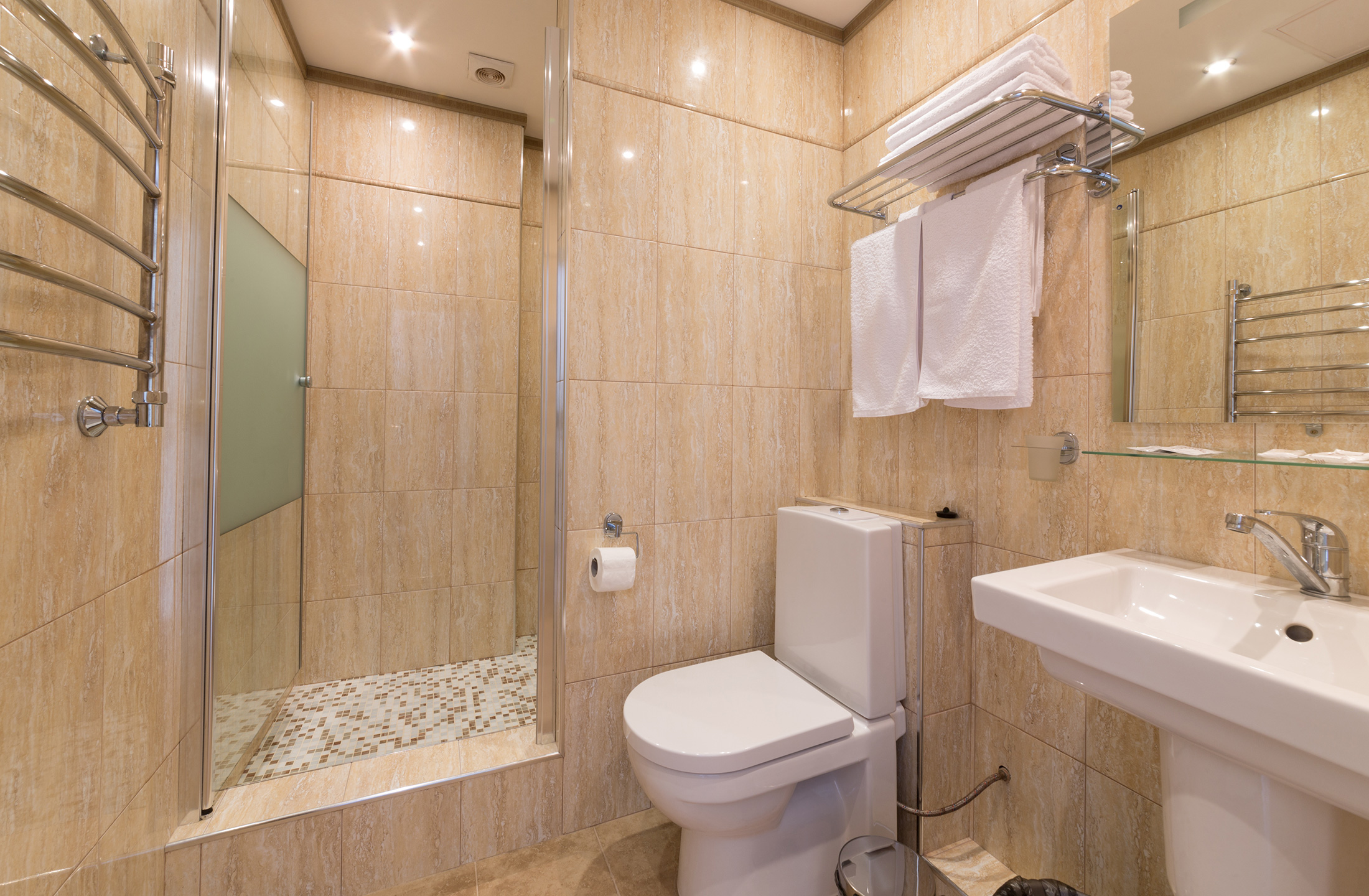 Tile Contractor Mosaic Marble Condo Remodeling Panama City FL - Bathroom remodeling panama city beach